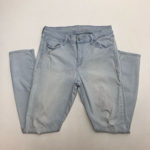 Old Navy Rockstar Distressed Ripped Jeans 10